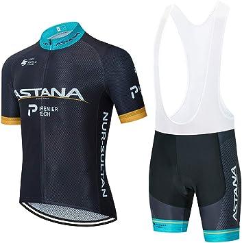 STEPANZU Ropa Ciclismo Hombre Verano Maillot Ciclismo Manga Corta Ropa MTB y Culotte Pantalones Cortos Acolchado: Amazon.es: Deportes y aire libre