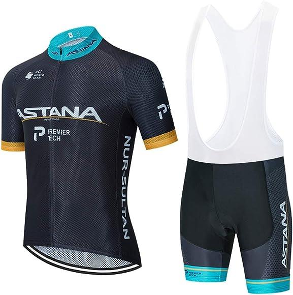 Summer Cycling Clothes Set Short Sleeve Cycle Jersey Gel Padded Bib Shorts