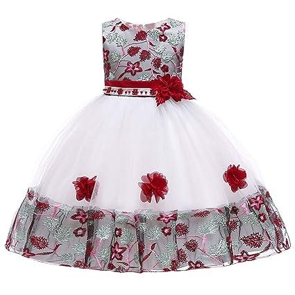 Vestido para niña, largo floral, para bebé, princesa, dama ...