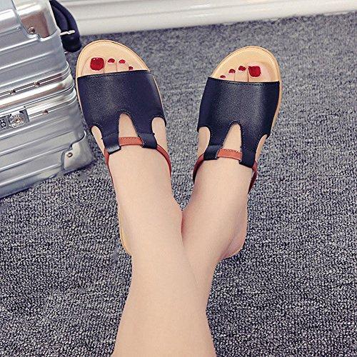 Cyber bas Wedges Glisser Sandales Mode Doux Semelle Confort Pantoufle Chaussures Noir