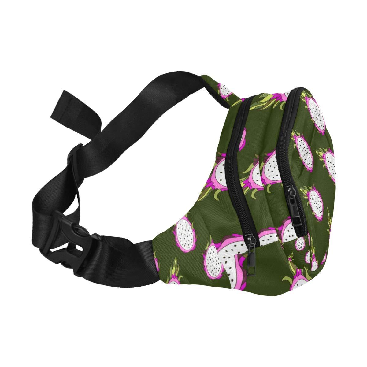 Tropical Exotic Fruit Dragon Fruit Fenny Packs Waist Bags Adjustable Belt Waterproof Nylon Travel Running Sport Vacation Party For Men Women Boys Girls Kids