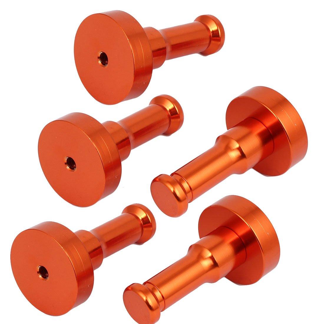 uxcell Decorative Aluminium Hanger Clothes Holder Round Robe Hook Orange 5pcs