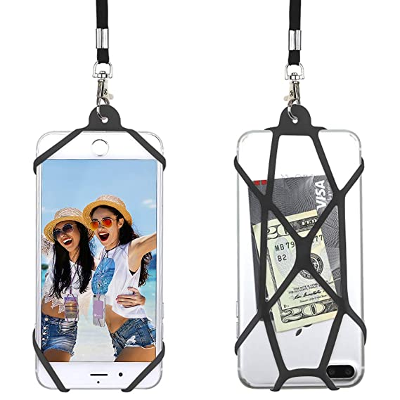 promo code a1aae 0cefc Gear Beast Universal Web Cell Phone Lanyard Compatible with iPhone, Galaxy  & Most Smartphones, Includes Phone Case Holder,Neck Strap
