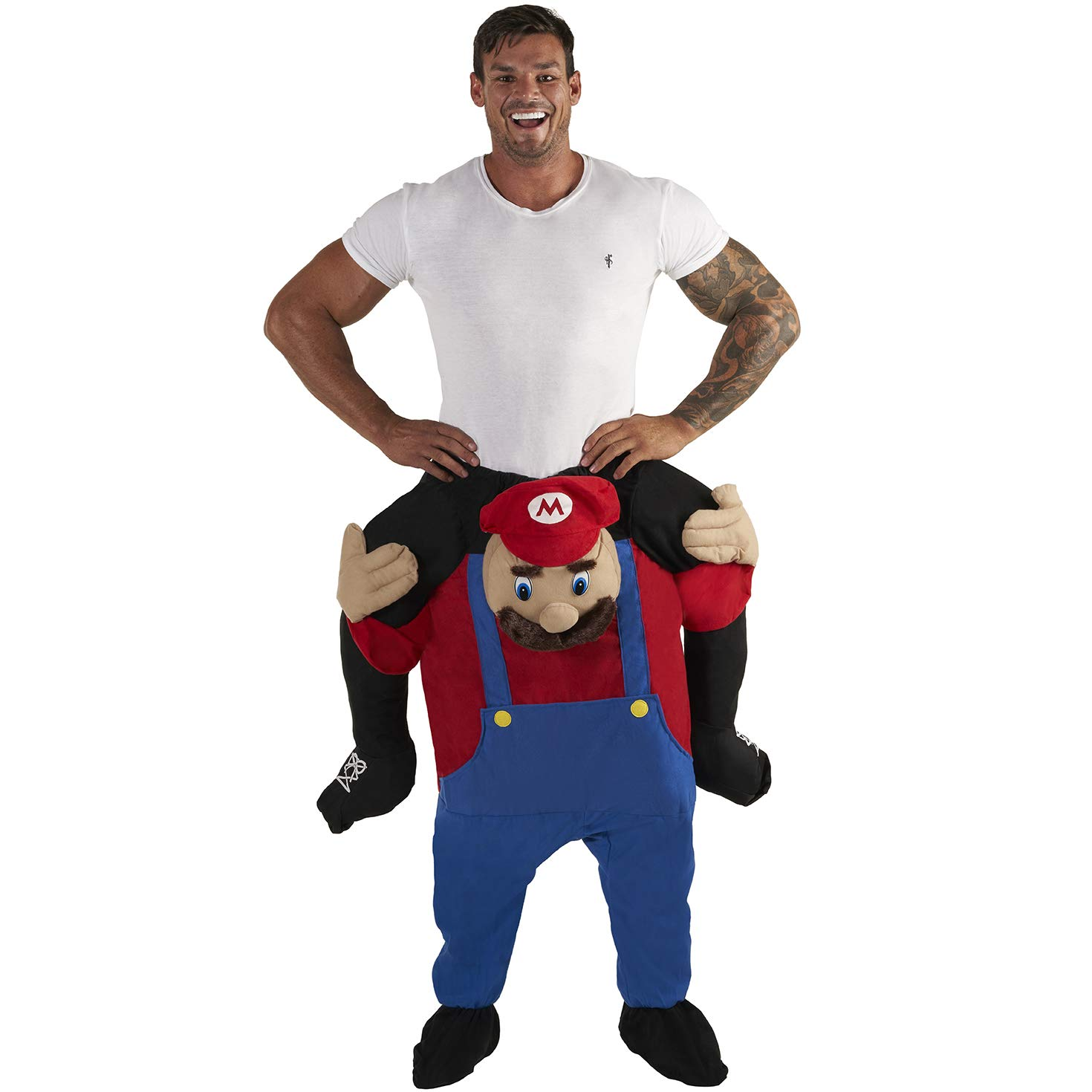Morph Unisex Piggy Back Red Plumber Piggyback Costume - With Stuff Your Own Legs by Morph
