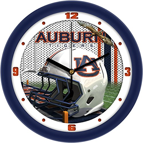 NCAA Auburn Tigers Helmet Wall Clock - Crystal Football Clock