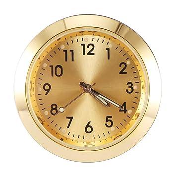 Reloj del coche Ventilación del coche Reloj del perfume Tablero del coche Pequeño y redondo Reloj de cuarzo analógico Reloj adhesivo Adornos para el coche ...