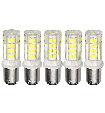 Ashialight LED 12 Volt Ba15d Bulb- Equal 35 watt DC Bayonet Base Halogen  Light Bulb, Daylight, Double Contact Bayonet Socket, Repalces JD Type T3/T4