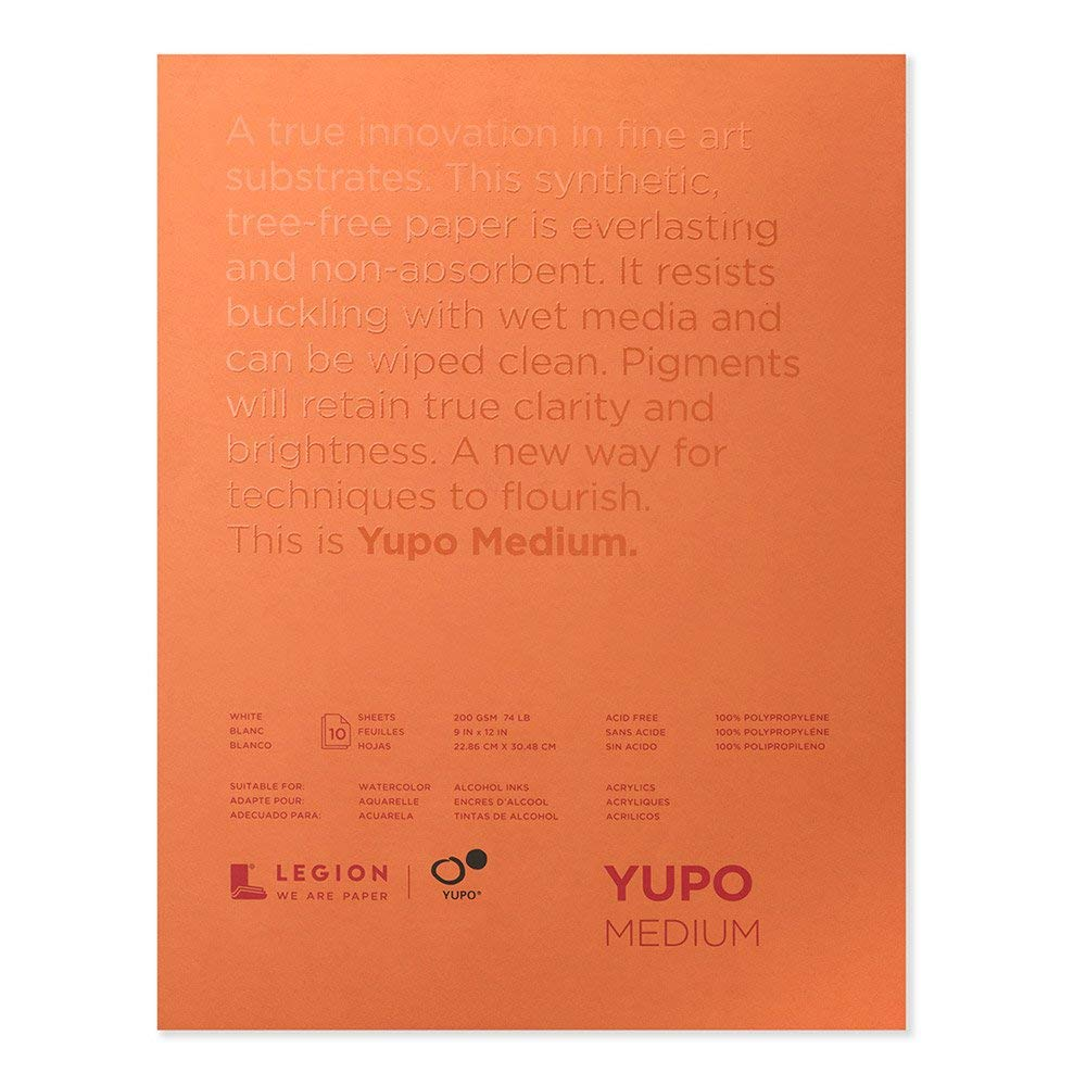 Yupo Paper L21-YUP197W912 White Sheets (10 Pack), 9'' x 12'' (Limited Edition)