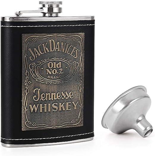Stainless Steel Hip Flasks with Funnel Pocket Flask for Liquor 8oz KWANITHINK Hip Flask for Men