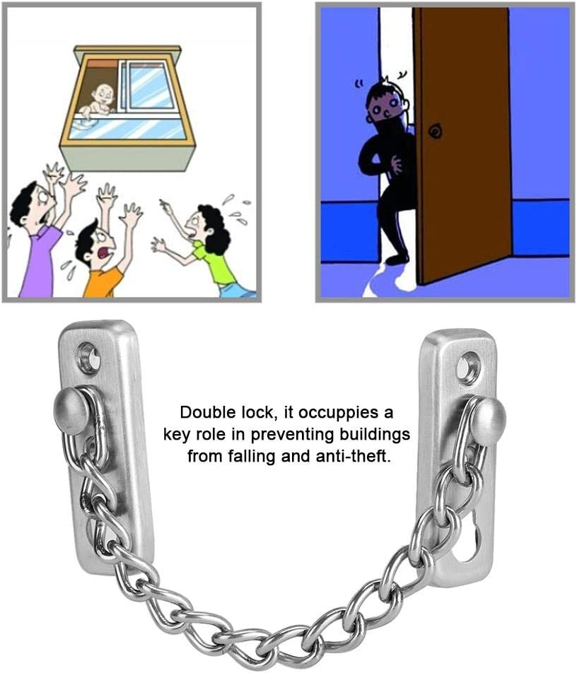 Stainless Steel Chain Lock Window Theft Limiter Window Limiter Fall PreventionChild Protection Safety Lock System