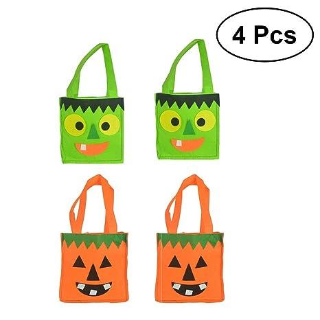 BESTOYARD 4pcs Halloween Candies Goody Bolsas de Tela no ...