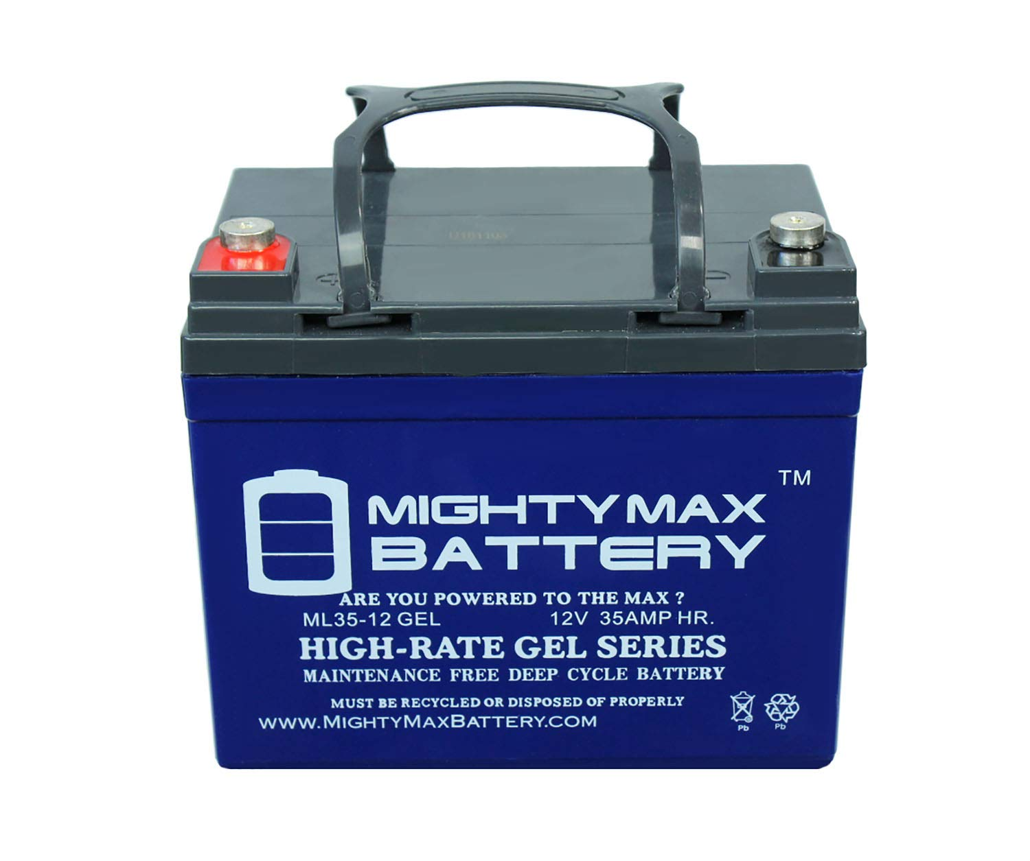 Mighty Max Battery Rechargeable Gel Type Battery 12V (ML35-12GEL) by Mighty Max Battery (Image #2)