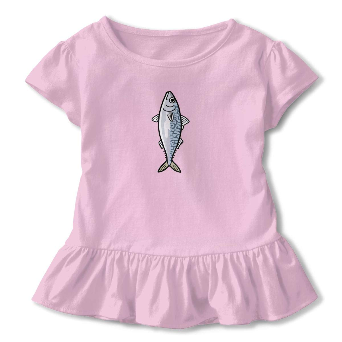 Fish Toddler Girls Cute Animal Floral Letter Print at Front Short Sleeve Casual Summer Baby Children Tunic Dress Shirt