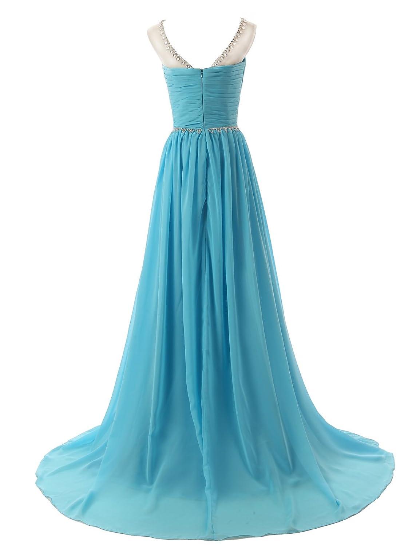 Amazon.com: Dressystar Beaded Straps Bridesmaid Prom Dresses with ...