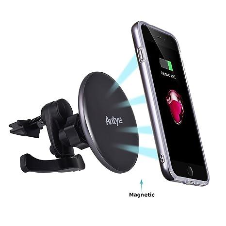 Antye Magnético Qi inalámbrico Cargador de Coche para iPhone ...
