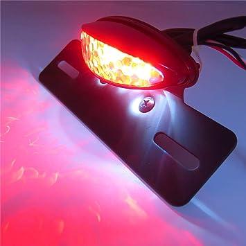 LED Front Rear Turn Signal Running Brake Tail Lights Cruiser Chopper Scooter ATV