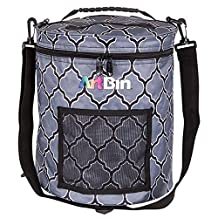 ArtBin 6804SA Yarn Drum Knitting & Crochet Tote Bag, Gray Print