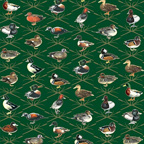 Reeds and Ducks Pattern Mallard Wood Redhead Hooded Merganser Premium Roll Gift Wrap Wrapping Paper