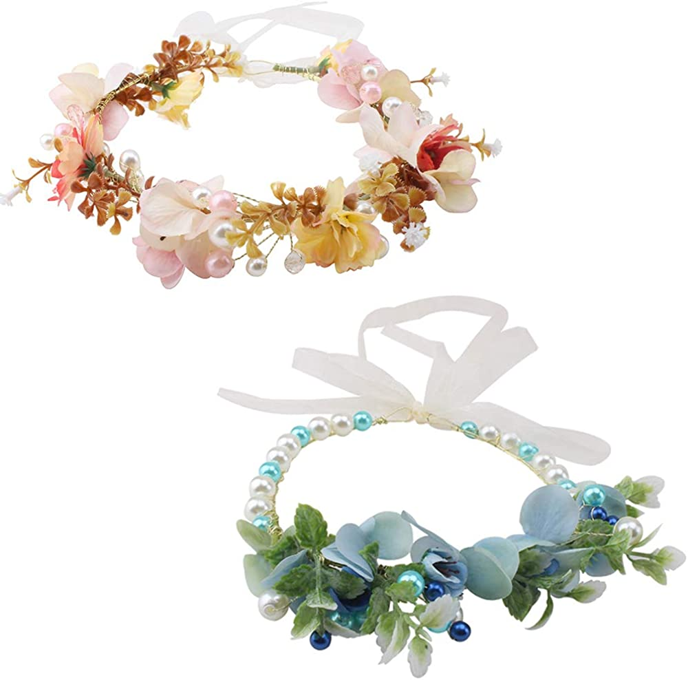 Women Flower Crown 2pcs...