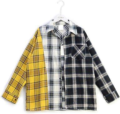 APHT Unisex Suga Camiseta Abotonada T-Shirts Cool KPOP Hip Pop Top Deportiva Fanáticos Camiseta Franela de Cuadros Manga Larga: Amazon.es: Ropa y accesorios