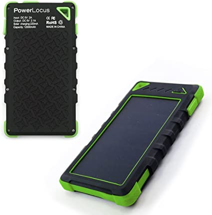 Huge Capacity 16000 mAh Dual USB Power Bank Solar Phone Charger by Compakit IP67 Waterproof with 4 LED Flashlight Universal Compatibility Cell Phone Battery Pack for Men /& Women