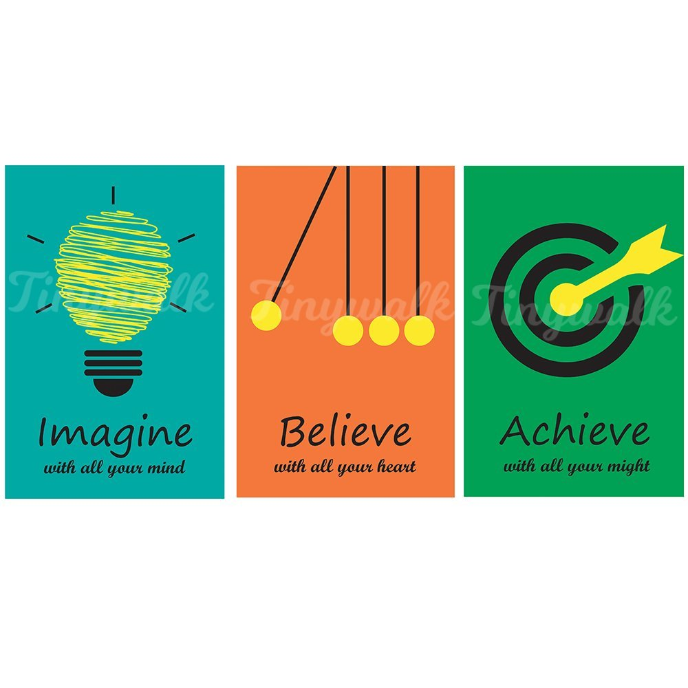 Combo pack of Motivational Quote wall poster | (12X18) | Set of 3