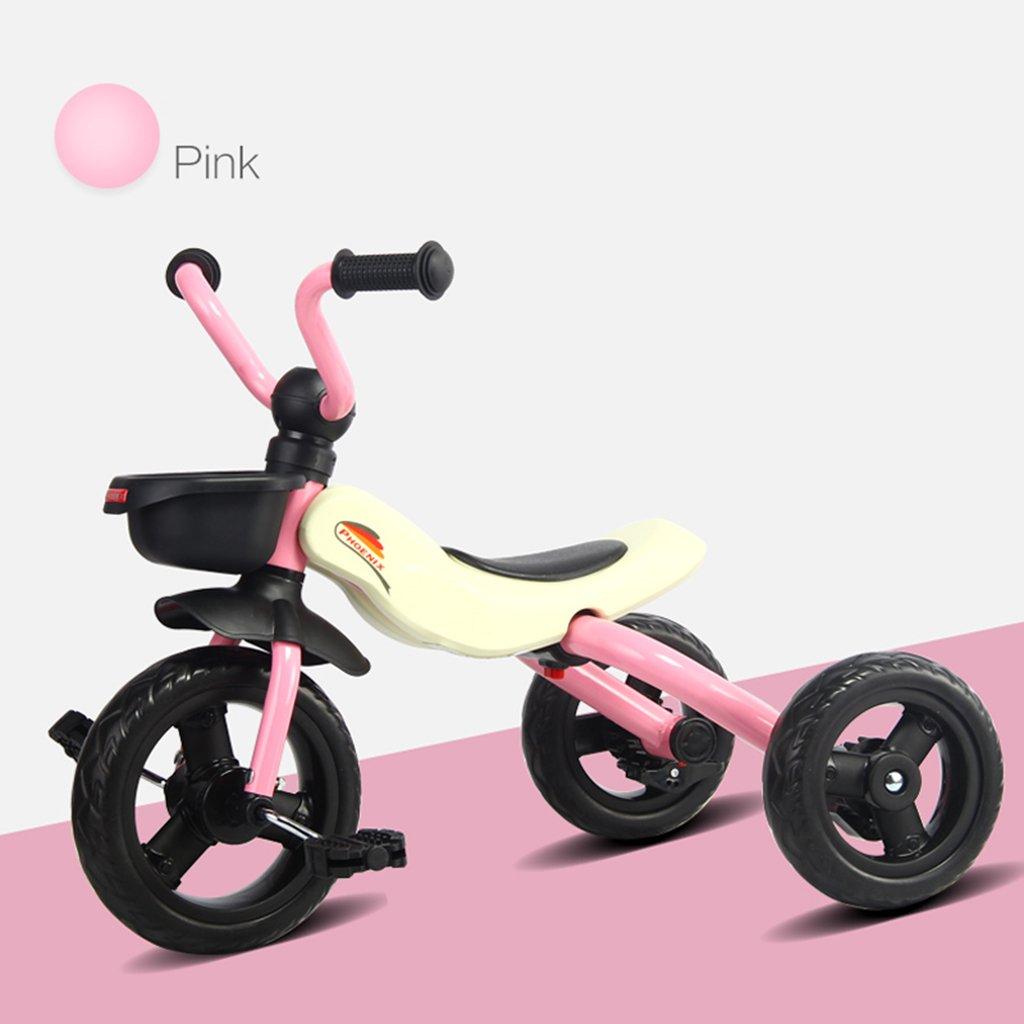 XQ 子供の三輪車2-3-5-6歳の赤ん坊の幼児の自転車折りたたみ自転車自転車 子ども用自転車 ( 色 : ピンク ぴんく ) B07CGBT1T8ピンク ぴんく