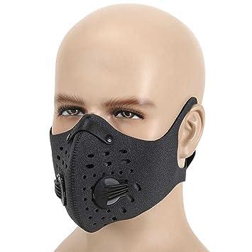 Ewolee Mascara Contaminacion - Mascara Neopreno Antipolvo Motocicleta Bicicleta Ciclismo Esquí Mitad Cara Máscara Diseño de