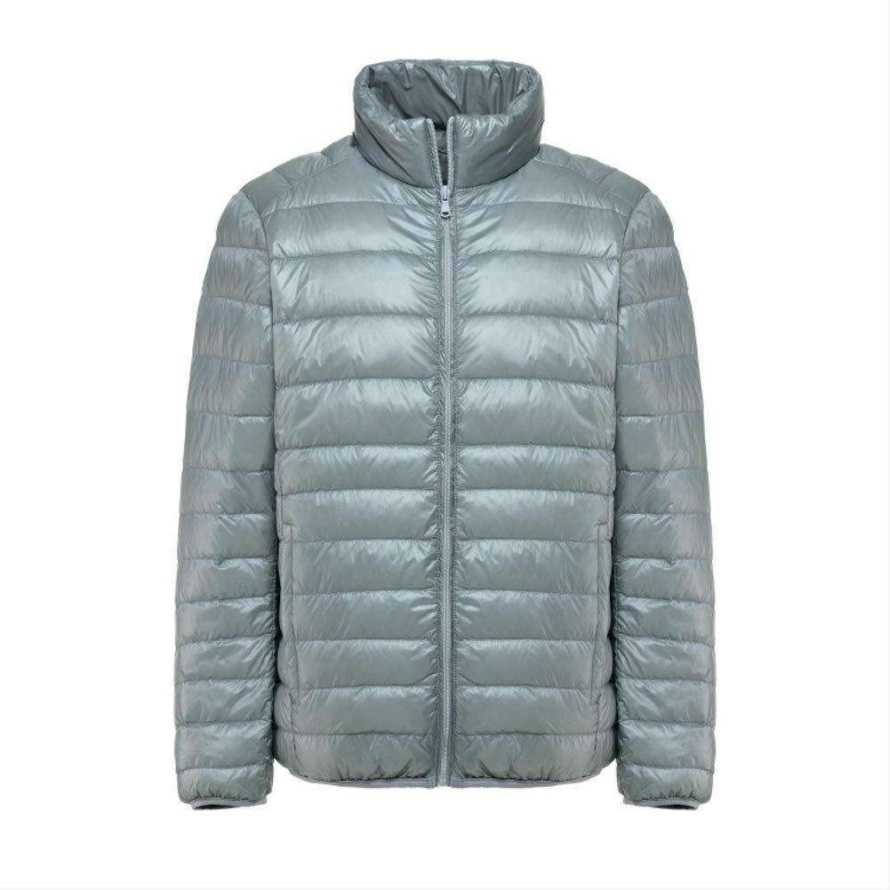 Loqono Winter Men Lightweight Down Jacket Slim Short Casual Warm Jacket