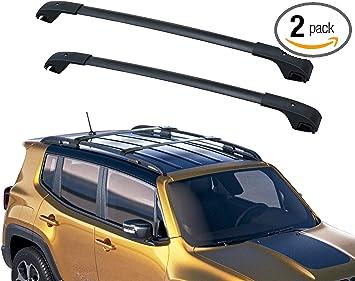 Amazon Com Ledkingdomus Cross Bars Roof Racks Compatible For 2015 2020 Jeep Renegade Aluminum Luggage Crossbars Cargo Rooftop Bag Carrier Carrying Bike Kayak Canoe Automotive