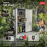 Keter Premier Tall Resin Outdoor Storage Shed with