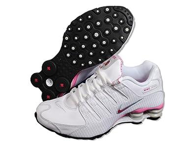 premium selection e49b1 7e72c NIKE Women s Shox Nz Running Shoe, White Cherry   Grey 314561-102 (
