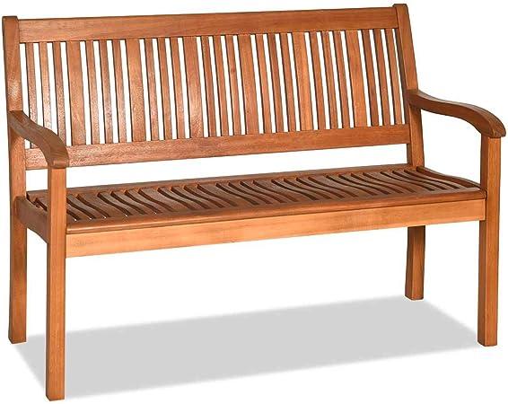 COSTWAY Banco de Jardín Banco de Parque de Madera Carga hasta 320 kg Asiento Mueble de 126x63x91centímetros para Terraza Balcón Patio: Amazon.es: Hogar