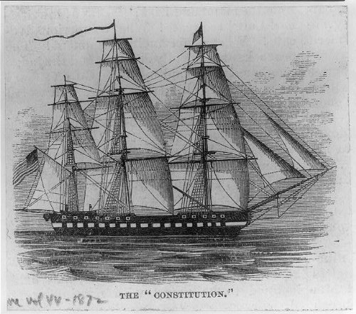 Uss Constitution Pictures (Photo: USS Constitution,c1924,drawing,sailing,ship,US Flag)