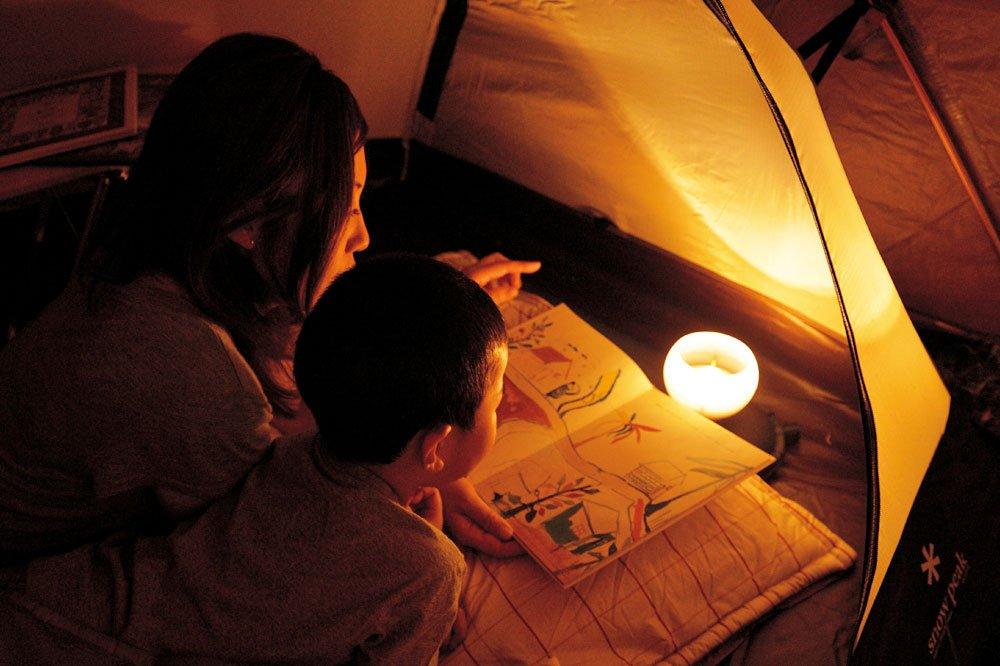 Snow Peak Hozuki LED Candle Lantern, White/Orange by Snow Peak (Image #3)