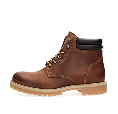 arriving new york classic styles Jack Jones Herren Stoke Leder Stiefel -Braun: Amazon.de ...
