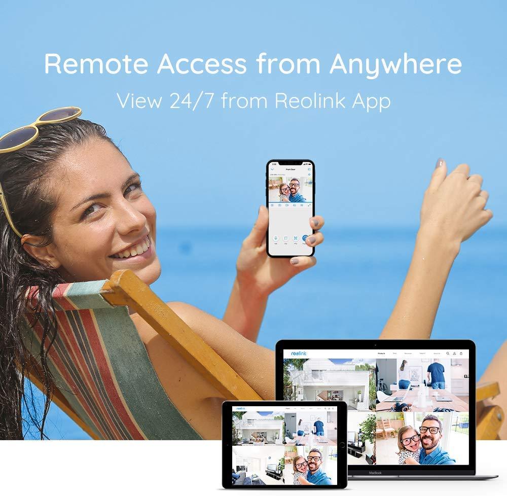 Reolink 4 Kanal 4MP /Überwachungskamera Set Haus Sicherheit /Überwachungssystem mit 4X 4MP Wasserfeste PoE IP Kamera und 4CH 1TB HDD NVR f/ür Aussen Innen RLK4-410B4-4MP