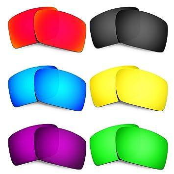 HKUCO Mens Replacement Lenses For Oakley Eyepatch 2 Blue/Black/Purple Sunglasses/Purple Sunglasses Polarized 25f7qM5