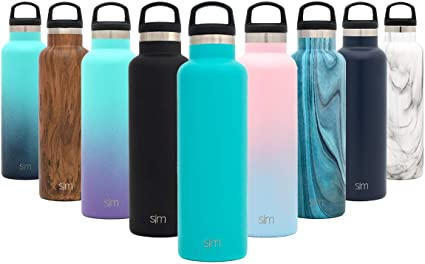 1952d3152d Simple Modern 12oz Ascent Water Bottle - Stainless Steel Kids Hydro  w/Handle Lid -