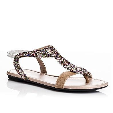08b651192c3 Reqins Sandales Bernie Multicolore  Amazon.fr  Chaussures et Sacs