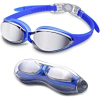 Letsfit Swim Goggles in G2500 Blue with Mirrored Lenses