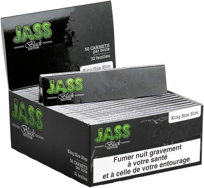 JASS Slim Black lot de 20 carnets de feuille à rouler
