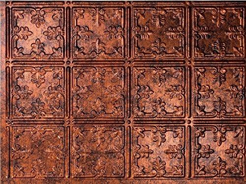 Real Copper Tiles (Backsplash Tile Fleur Moonstone Copper)