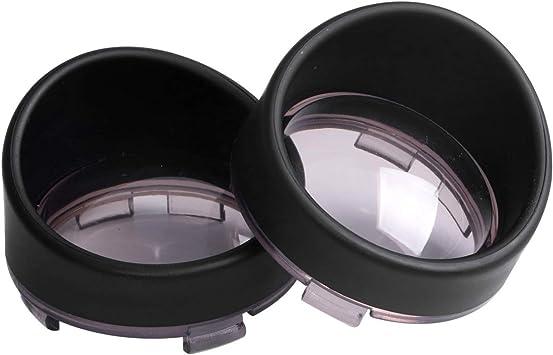 2X Turn Signal Light Bezels Visor Clear Lens Cover For Harley Touring Road Glide