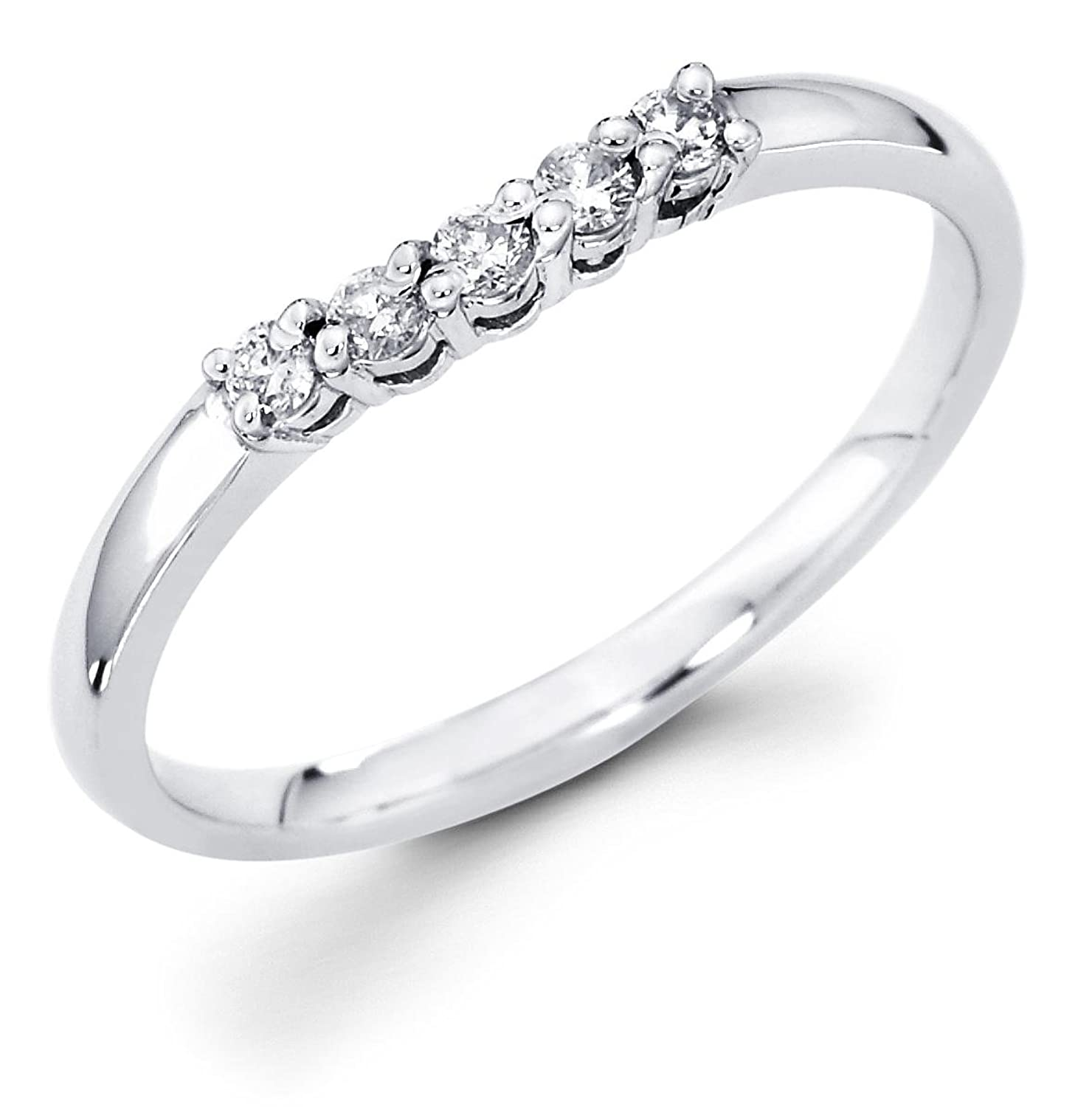 Lovely White Gold Wedding Rings Design