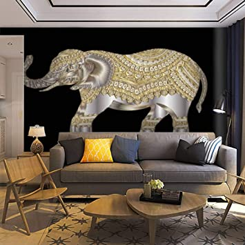 Wallpaper Wall Mural Indian Elephant Hand Drawn Indian Elephant Hand Drawn Elephant Self Adhesive Removable Peel Stick Wall Decor Home Craft Wall Decal Wall Poster Sticker For Living Room