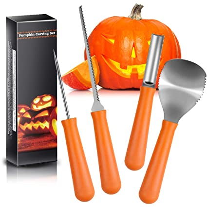 Amazon Halloween Pumpkin Carving Kit Terresa 4 Piece Sturdy