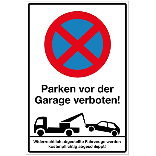 Wandkings Nota Cartel - Prohibido aparcar para el garaje ...