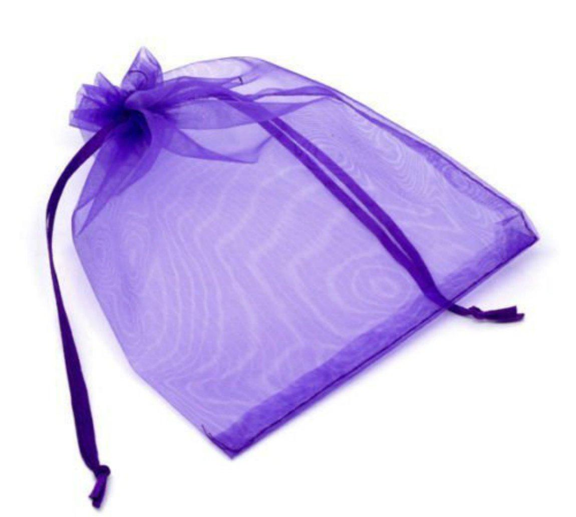 SupplyEU 100 Stk Geschenkbeutel Dunkel Lila wunderschöne Säckchen klare Organzasäckchen Organzabeutel aus Organza, 9x7cm für Hochzeit Schmuck Party Festival