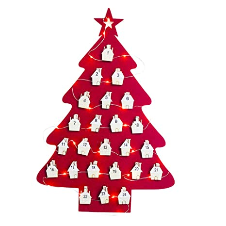 Natale Calendario.Amosfun Calendario Di Natale Appeso Albero Di Natale Di